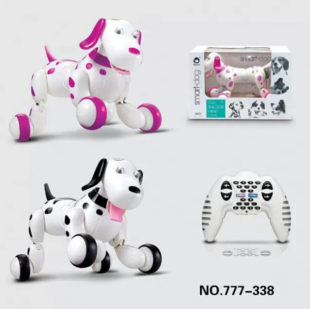 Remote Control Animal Toy RC Robot Smart Dog 777-338S RC Simulation Dog Multi-Function Toy Dog Sound Move Gift VS TT320 Dinosaur