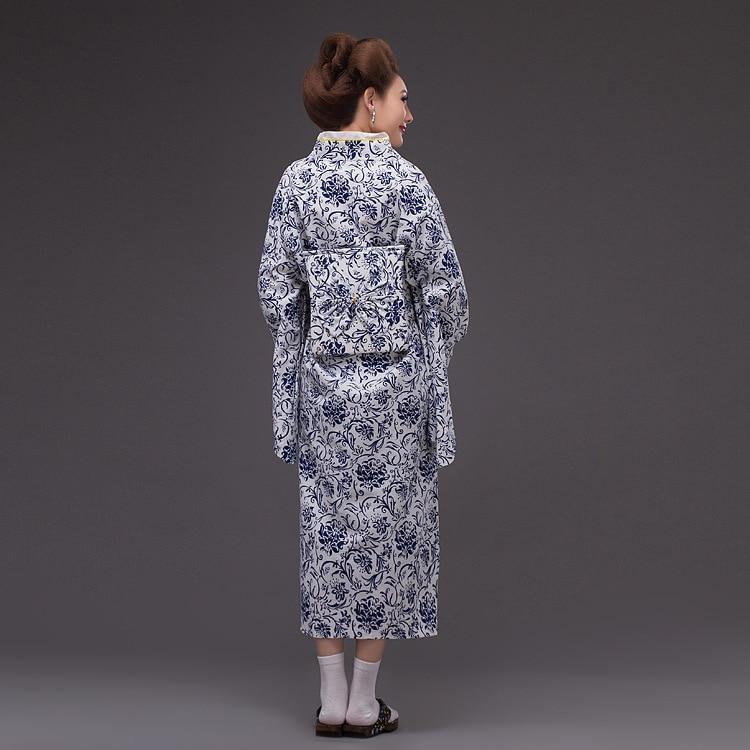 Kvinnor Elegant Sexig Traditionell Japansk Kimonos Damblom Japansk - Nationella kläder - Foto 2