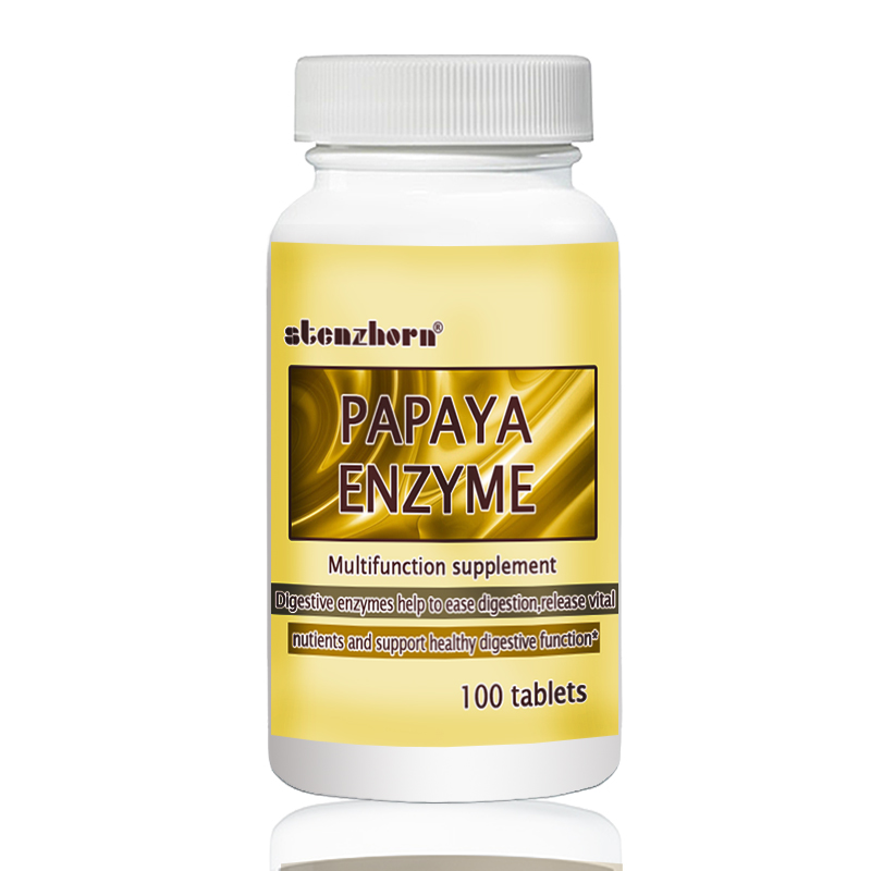 PAPAYA ENZYME  100 PCS  Help To Ease Digestion