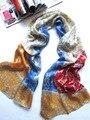 [ seda Jarcquard bufanda ] 50 cm * 170 cm larga Scarf / 100% seda Natural / nuevo 2014 primavera verano / patrón de piedra de colores