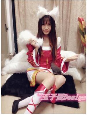 a1882b387a4 Lol Cosplay Costumes Sexy Fox LOL Ahri Tail Dynasty Ahri Nine Tailed ...