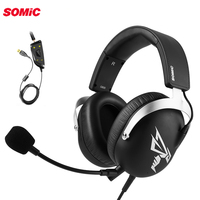 Somic G805 PS4 Gaming Headset 7.1 Virtual 3.5mm or USB Wired PC Stereo Earphones Headphones with Microphone for Xbox Laptop