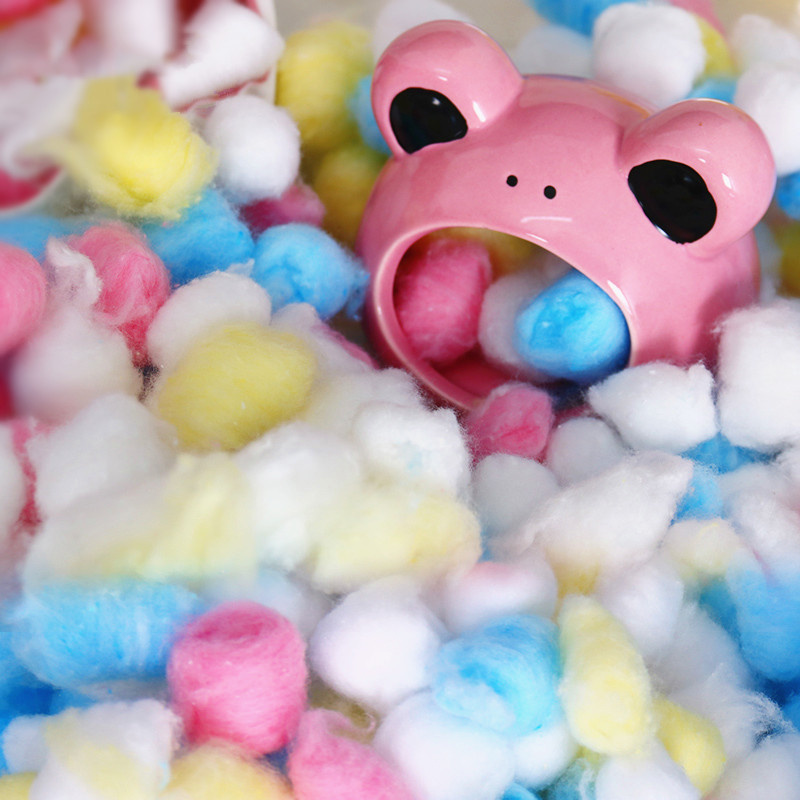 100Pcs/Bag Colorful Winter Keep Warm Cotton Ball Cute Cage House Filler Supply For Hamster Rat Mouse Small Animals Supplies