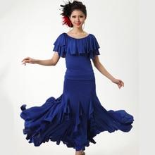 New Modern Ballroom Dance Dress Short Sleeves Sexy Women Modern Dance Dress Ballroom Waltz Tango Dance Wear