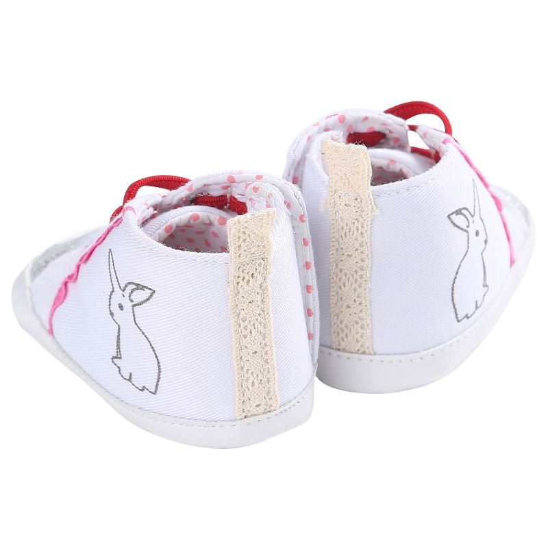 Spring Autumn Baby Cotton Fabric First Walkers Animal Prints Lace-Up Bling Spring Casual Girls Shoes 0-18 Months