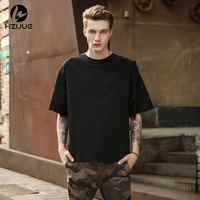 Man Streetwear Justin Bieber Tshirts Urban Clothing Kanye Plain White Grey Black Oversized Shirts Blank T