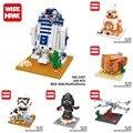 Nano bloques de star wars diy brikcs juguetes mini bloques de construcción los niños regalos juguetes para niños
