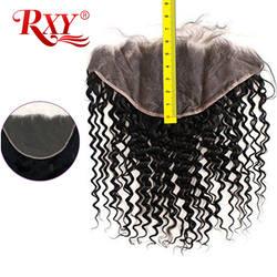 13x6 синтетический Frontal шнурка странный вьющиеся волосы швейцарский синтетический Frontal шнурка RXY бразильский Реми человеческие