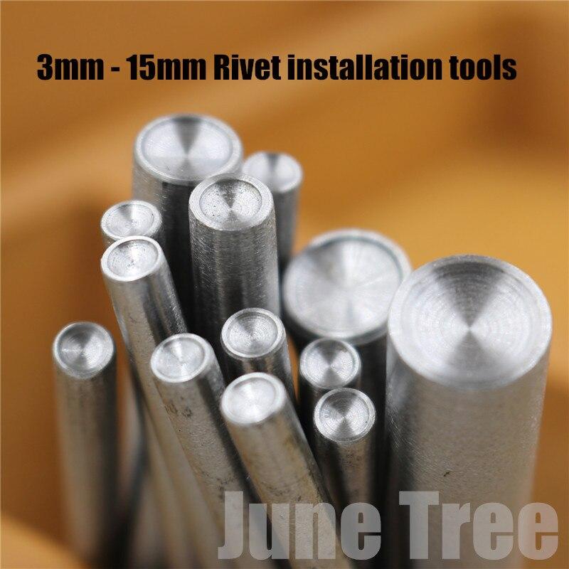 4mm,8mm 10 Mm 3-15mm Rivet Tools Punch Cowhide Leather Handmade Diy 3mm