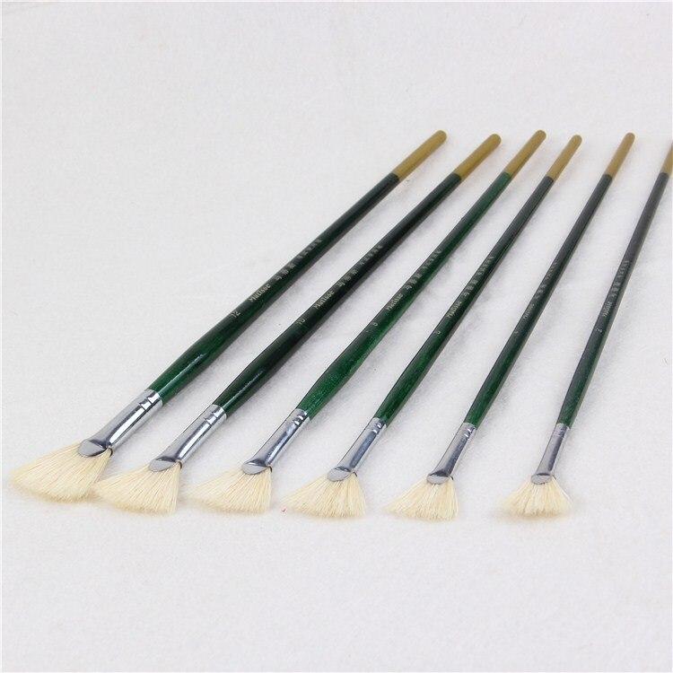 ᐂOro Verde forma del ventilador de cola conjunto pluma gouache ...