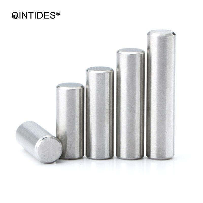 QINTIDES M5 Parallel Pins Stainless Steel High Precision Cylindrical Pin Chamfering Pin GB119 M5*5/6/8/10/12/14/16/18/20/22/25
