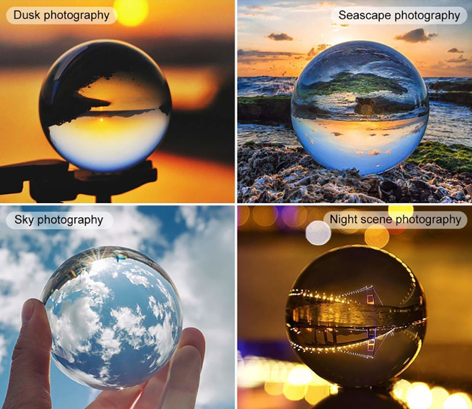 Crystal Ball K9 High Transparent Quartz Glass Transparent Ball Spheres Glass Ball Photography Balls Crystal Craft Decor