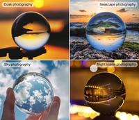 K9 High Transparent Crystal Ball Quartz Glass Transparent Ball Spheres Glass Ball Photography Balls Crystal Craft Decor