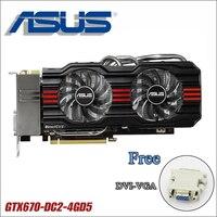 used ASUS Video Card GTX 670 4GB 256Bit GDDR5 Graphics Cards for nVIDIA Geforce GTX670 VGA Cards stronger than GTX 750 ti 750ti