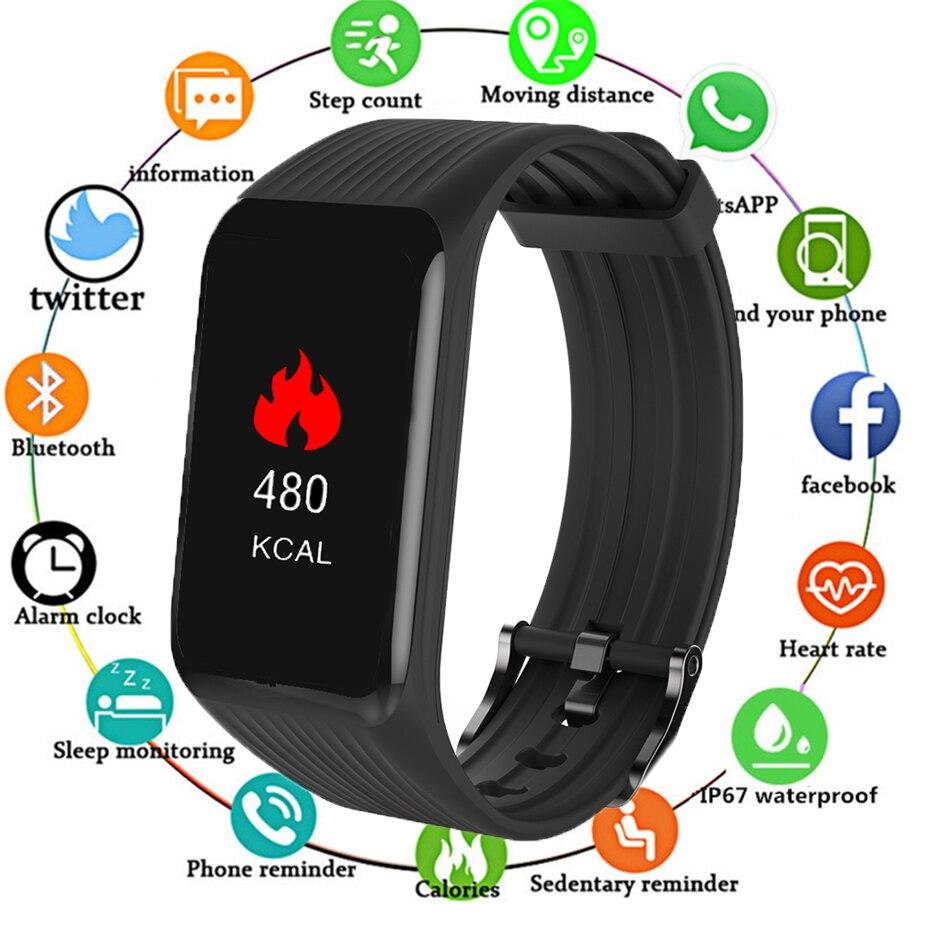 Smart Wristband K1 Plus Heart Rate Monitor Smart Bracelet IP68 Waterproof Bluetooth Sport Wristband Color Screen Fitness Tracker