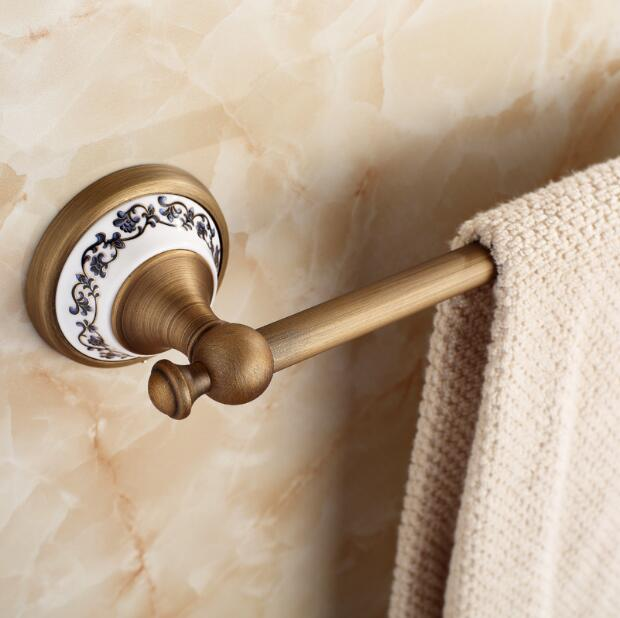 Bathroom Products Solid Brass bronze (60cm)Single Towel Bar,Towel Holder,Towel Rack,Bathroom Accessories Free Shipping free shipping bathroom products solid brass chrome single towel bar chrome towel holder towel rack bathroom accessories cs008d 2