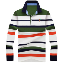 b4ed0c56 2019 autumn winter new men polo high quality striped polo shirt fashion  casual long sleeves solid
