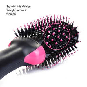 Image 4 - UK warehouse professional Hair blow Dryer Brush 2 In 1 Hair straightener Curler With Comb Hair Brush Roller