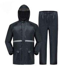 где купить Split raincoat set cross straight rain pants adult reflective riding waterproof hiking raincoat set environmental protection по лучшей цене