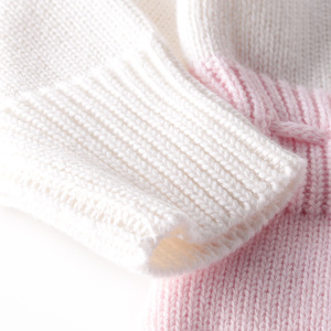 Image 5 - Baby Bodysuits hand knitted wool sweater power of love long sleeved coveralls package fart Bodysuits climbing clothes