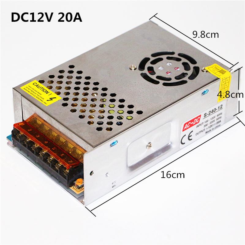 мини размеры алюминий материал 60 вт-360 вт трансформаторы переменного тока 110 в 220 в к для DC 12 в 5А 10а 20а 30а светодиодные ленты переключатель питание