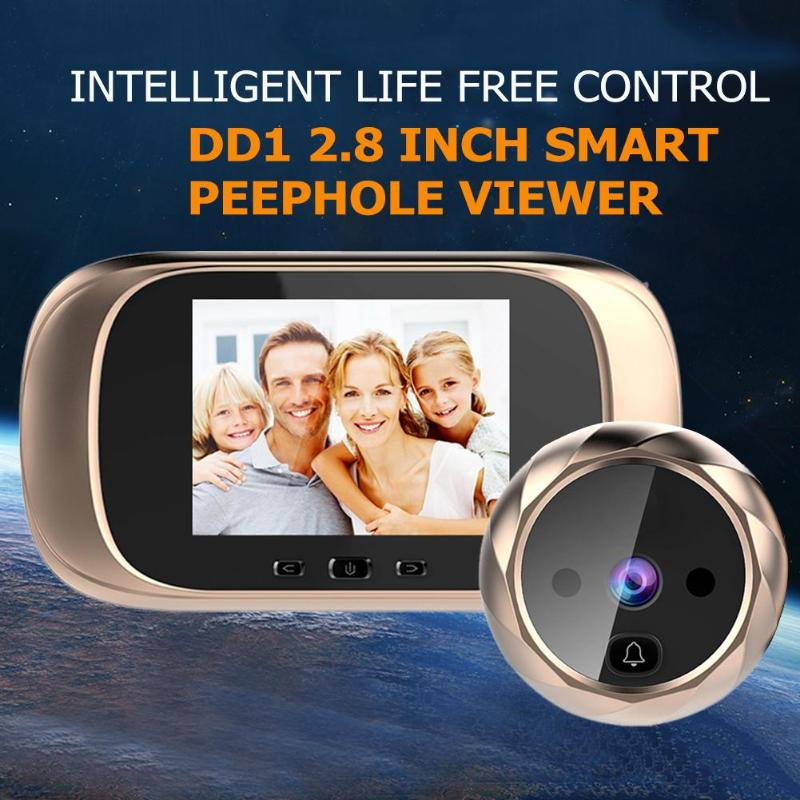 Image 2 - DD1 2.8 inch LCD Color Screen Digital Doorbell Infrared Motion Sensor Long Standby Night Vision HD Camera Outdoor Door BellDoorbell   -