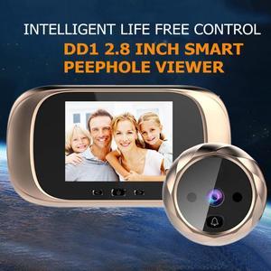 Image 2 - DD1 Màn Hình LCD 2.8 Inch Màn Hình Màu Kỹ Thuật Số Chuông Cửa Cảm Biến Chuyển Động Hồng Ngoại Chờ Lâu Kính Nhìn Xuyên Đêm HD Camera Ngoài Trời Chuông Cửa