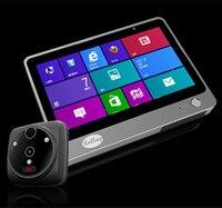 7 дюймов 2MP wifi/GSM домофон видео дверной телефон глазок просмотра