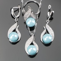 Natural Freshwater High Quality 925 Sterling Silver Pearl 3PCS Wedding Jewelry Sets For Women Earrings Pendant