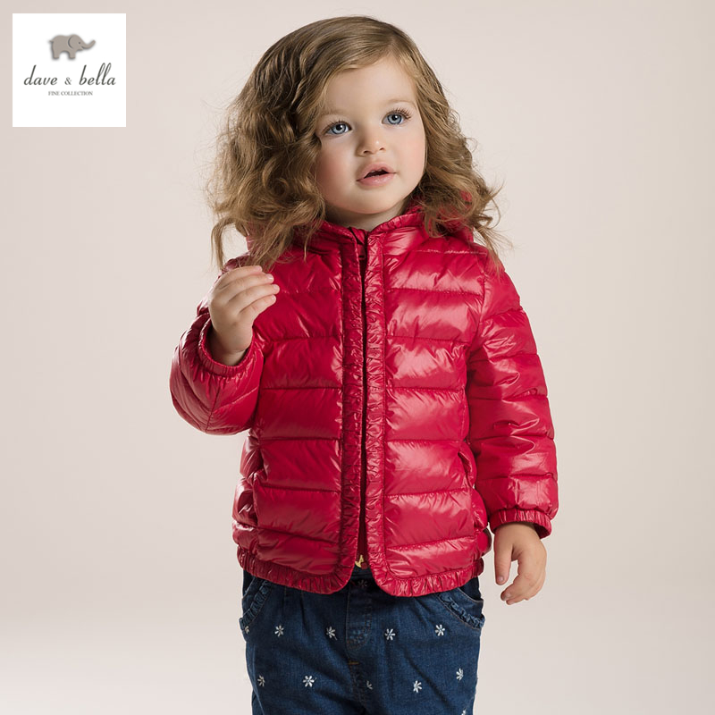 DB2929 dave bella  autumn winter infant coat baby girl down jacket padded jacket girls outerwear girls down coat down jacket db4631 dave bella winter infant coat baby girls red dots printed coat white duck down padded coat hooded outerwear