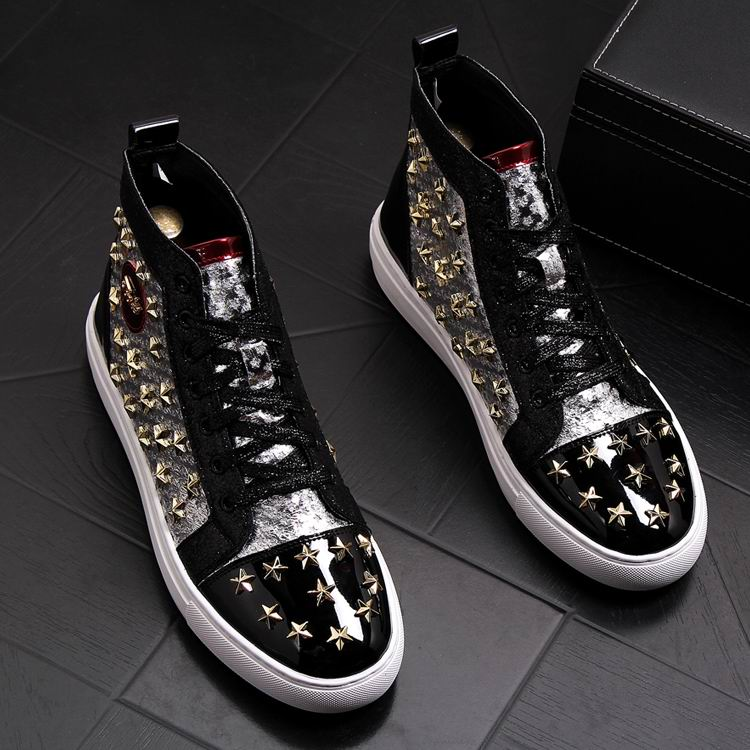 ERRFC Personalized Fashion Men High Top Casual Shoes Luxury Star Rivets Charm Mixed Colors Ankle Boots Man Trending Leisure Shoe 2