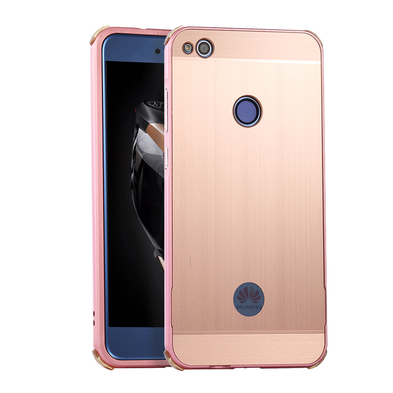 For Huawei P10 Lite Brushed mirror Back Cover Case for Huawei P10 Lite Plating Aluminum Metal Frame for Huawei P 10 Lite Case in Fitted Cases from Cellphones Telecommunications
