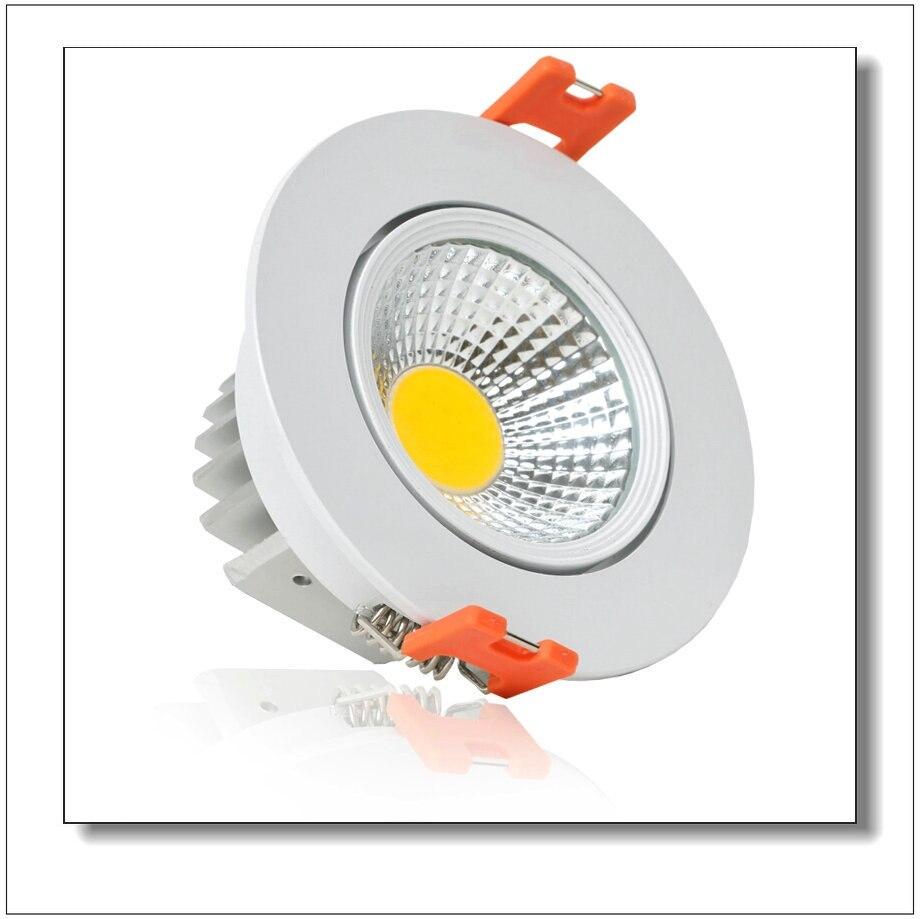 2015 Новые 7 Вт/10 Вт COB чип светильник Встраиваемый светодиодный потолочный пятно света лампы белый/ теплый белый светодиодные лампы Epistar