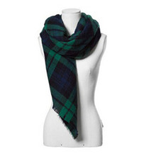 Autumn Winter Fashion Lady Plaid Square Scarf Tartan Stole Blanket Wrap Shawl Pashmina Women Scarves