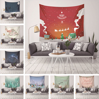 Tapestry Christmas Printed Home Decor Mandala Wall Hanging Tapestries Bed Cover Blanket Table Cloth Picnic Yoga Mat 150*200cm