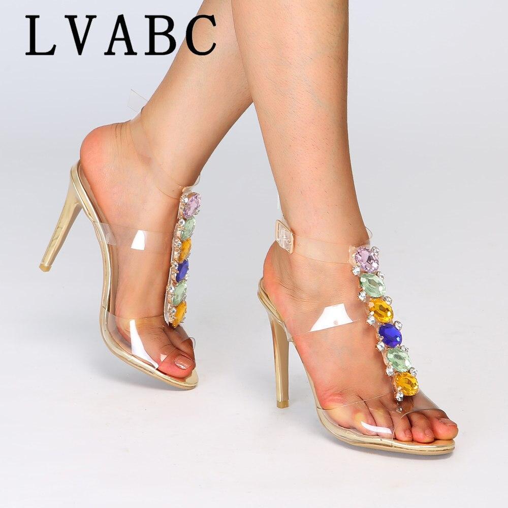 Ayakk.'ten Yüksek Topuklular'de 2019 yaz yeni Avrupa ve Amerikan ultra yüksek imitasyon toka yüksek roma sandalet kadın serin çizmeler Artı Boyutu 43'da  Grup 1