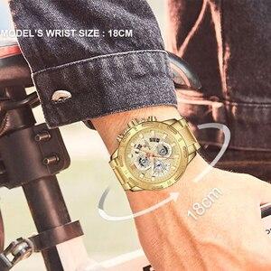 Image 5 - NAVIFORCE Men Watches Sport Waterproof Stainless Steel Fashion Luxury Gold Watch Date Clock Quartz Wristwatch Relogio Masculino
