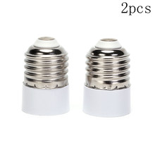 2pcs Converter E27 To E14 Adapter Conversion Socket High Quality Material Fireproof Socket Adapter Lamp Holder(China)