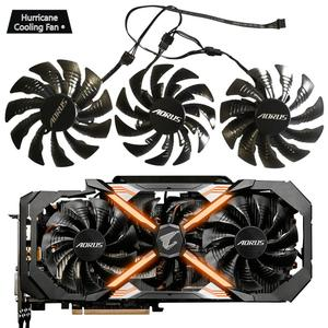Image 2 - 95 ミリメートル T129215BU DC 12V 0.55A PLD10015B12H GTX1070 GTX1080 ファンため GIGAYTE AORUS GeForce GTX 1080Ti エクストリーム版ビデオカードファン