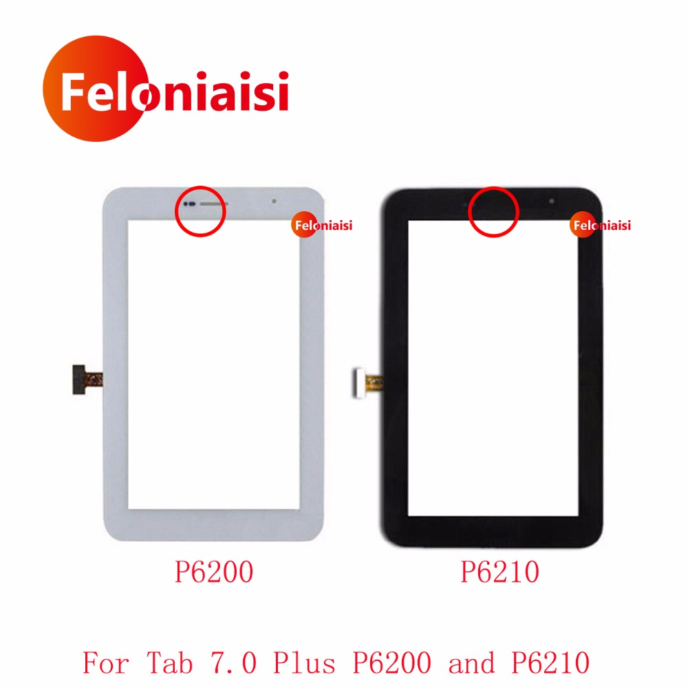 High Quality 7.0 For Samsung Galaxy Tab 7.0 Plus P6200 and P6210 Touch Screen Digitizer Sensor Front Outer Glass Lens Panel кабель samsung m190s p3100 p3110 p5100 p5110 p6210 p6200