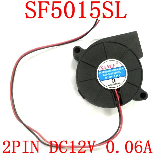 Free Shipping  SANLY   SF5015SL 12V 0.06A Ultra quiet humidifier turbo fan free shipping original sunon 4020 12v 0 7w gm1204pkv2 a ultra quiet 2 wire cooling fan