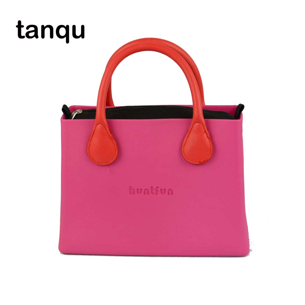 tanqu huntfun EVA square Bag solid canvas Insert Colorful leather Handle waterproof O bag style women O bag Handbag new colorful cartoon floral insert lining for o chic ochic canvas waterproof inner pocket for obag women handbag