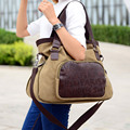 Squirrel fashion canvas with PU letter print cross body women messenger bag vintage vogue girls shoulder casual tote handbag
