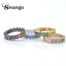 Women CZ Rings,Fashion Jewelry,The Rainbow Series, Irregular Rings,4 Plating Colors Can Wholesale,5pcs