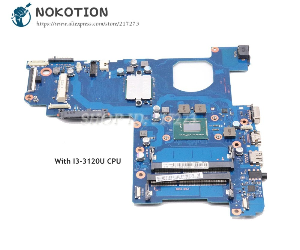 NOKOTION For Samsung NP270 NP270E5E Laptop Motherboard HM76 I3-3120U CPU DDR3 BA92-12172A BA92-12172B BA41-02206A