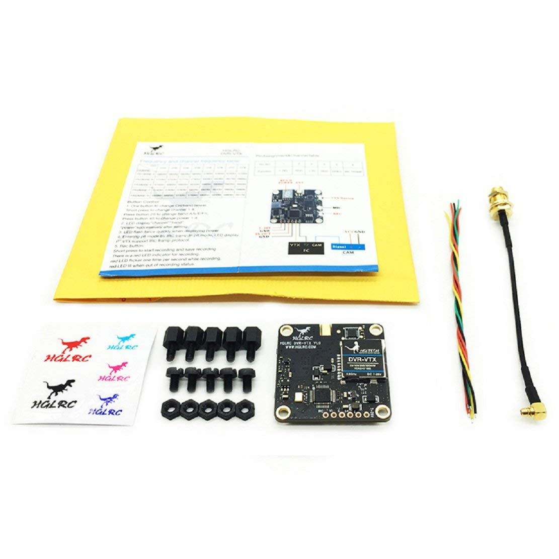 HGLRC 30.5*30.5 มม. 5.8 GHz 40CH DVR VTX FPV AIO เครื่องส่งสัญญาณ RP SMA หญิง/SMA หญิงสำหรับเครื่องส่งสัญญาณ FPV RC Drone-ใน ชิ้นส่วนและอุปกรณ์เสริม จาก ของเล่นและงานอดิเรก บน AliExpress - 11.11_สิบเอ็ด สิบเอ็ดวันคนโสด 1