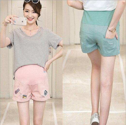 Одежда для беременных Бесплатная доставка Новый летний Материнства джинсы беременные женщины шорты сломанные отверстия