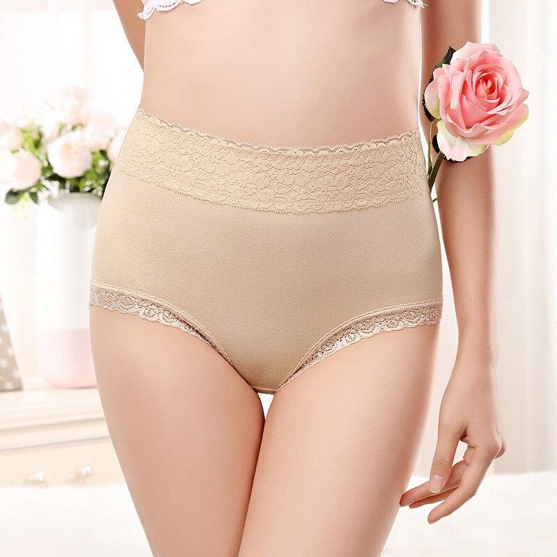 KJ999 High waist   panties   ropa interior femenina cotton underwear women big size culotte underpants female Large size   panties