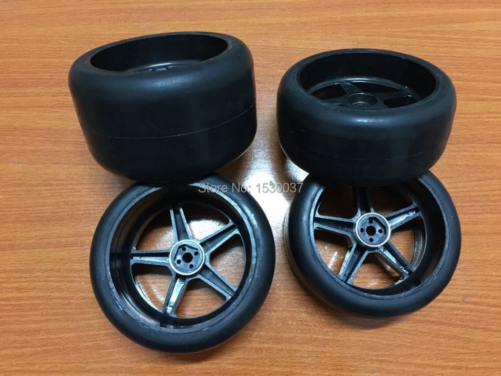 2x Front Slick tires And 2x Rear Slick tires for FG 1/6 CARSON SMARTECH 2x rear