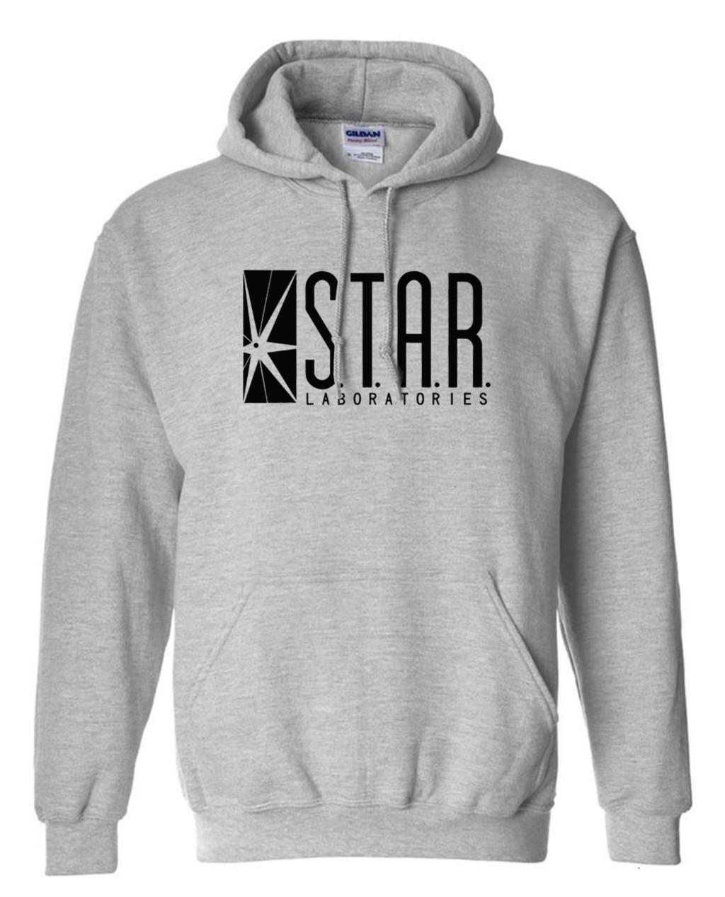 autumn brand hoodies superman series men hoody STAR S.T.A.R.labs jumper the flash gotham city comic books black sweatshirt 7